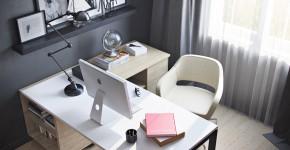 Угловой компьютерный стол: 40 идей практичных вариантов для домашнего офиса фото