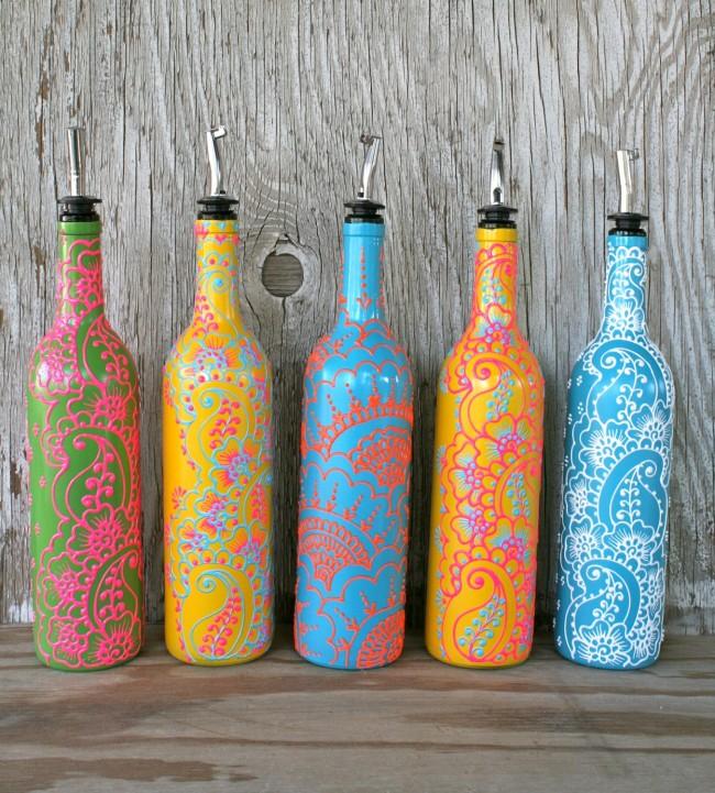Великолепные узоры на винных бутылках