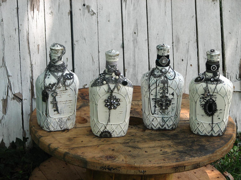 Декупаж бутылок своими руками под старину 36