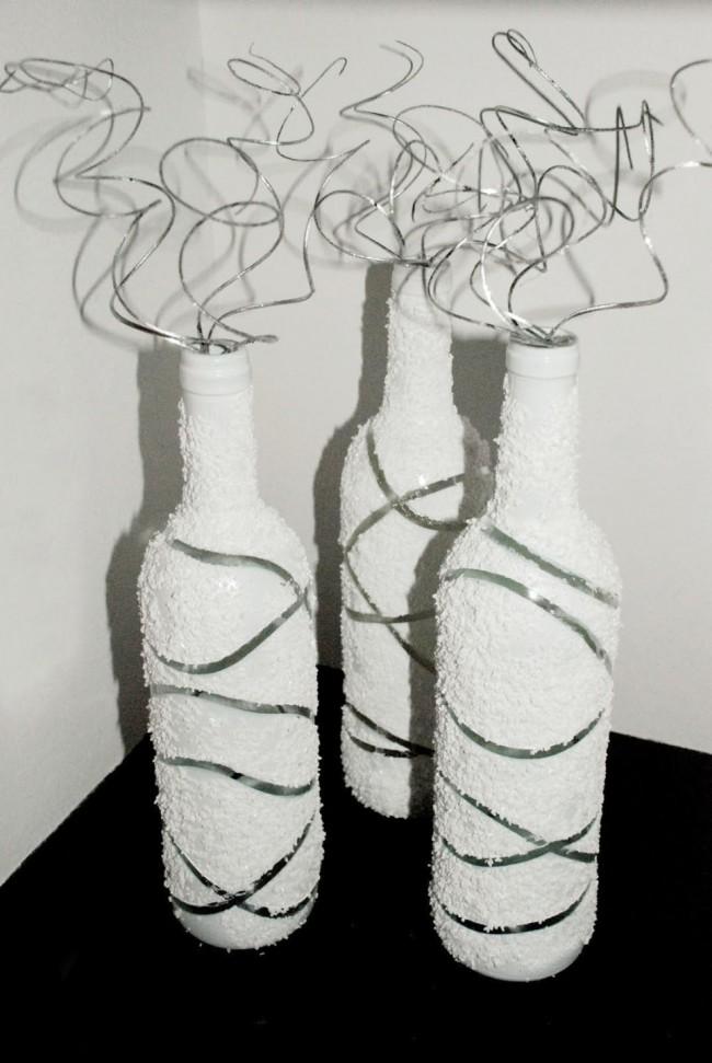 Бутылка с узорами в виде хаотических полос