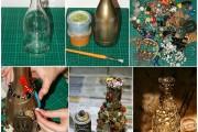Фото 31 Декор бутылок своими руками: 100+ вдохновляющих идей и поэтапные мастер-классы