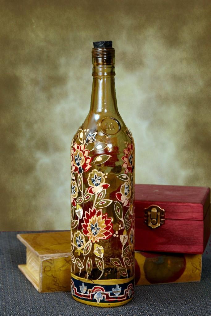 Декорирование бутылки своими руками фото 72