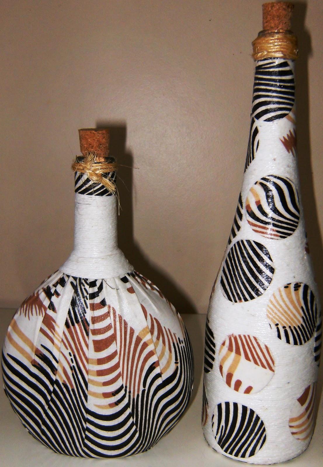 Все о декорировании бутылок кожей своими руками