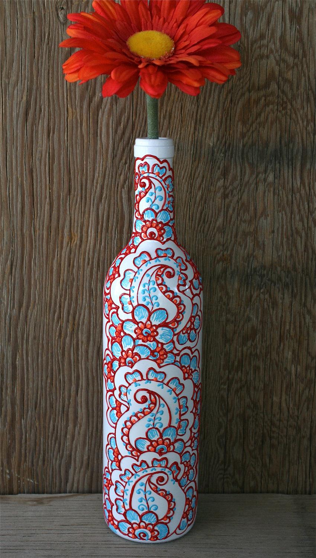 Роспись бутылку своими руками