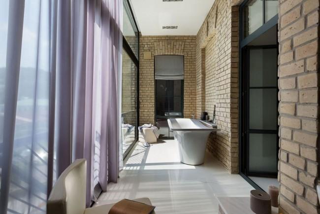 Ванная комната на лоджии - очень смелое решение