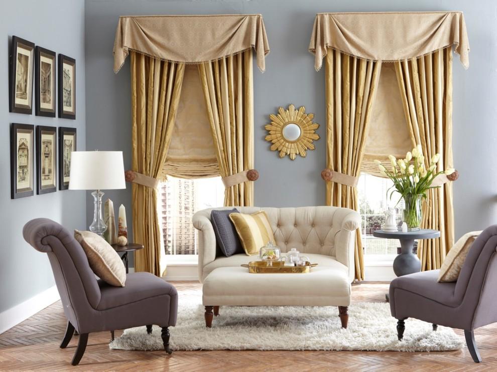 Дизайн классических штор для гостиной новинки
