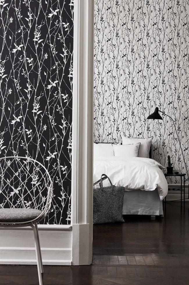 Стильный черно-белый интерьер современной квартиры