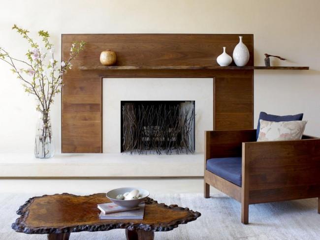 Экостиль в дизайне гостиной