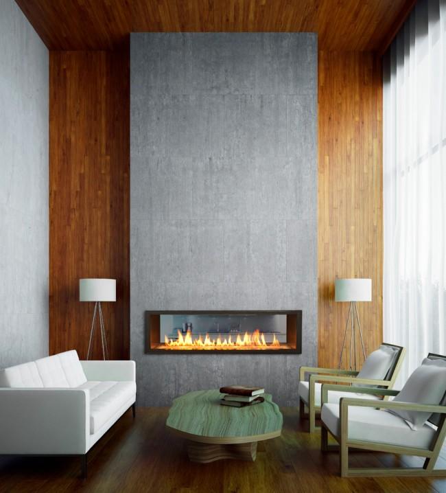 Дизайн камина должен соответствовать интерьеру комнаты