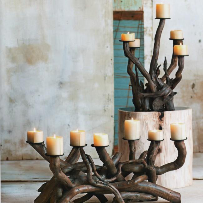 Шикарные канделябры ручной работы из корней деревьев