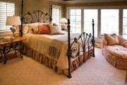 Фото 48 Кованые кровати: 115 утонченных решений для интерьера в стиле бохо, рустик и прованс