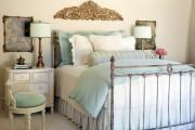 Фото 15 Кованые кровати: 115 утонченных решений для интерьера в стиле бохо, рустик и прованс