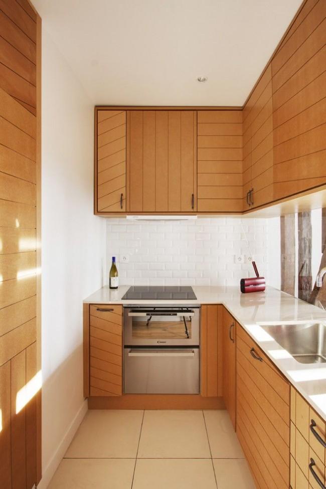 Встроенные вытяжки являются хорошим вариантом для маленьких кухонь