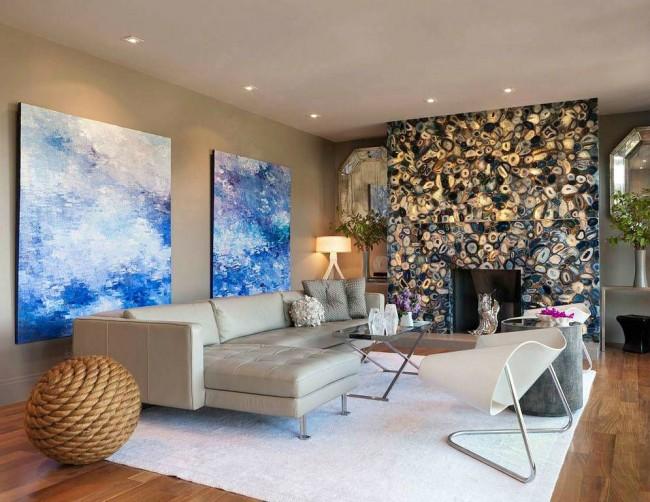 Плавные формы мебели в интерьере модерн