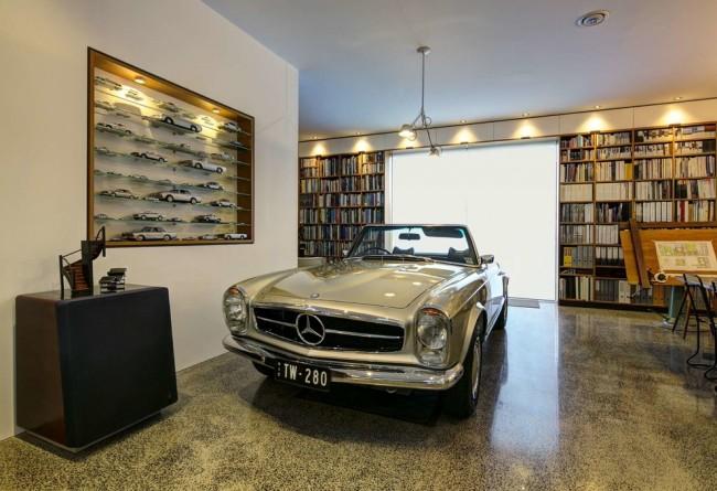 Красивый интерьер гаража в стиле ретро