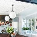 Натяжной потолок на кухне: можно ли делать и 70+ дизайнерских фотоидей  для глянцевого и матового финиша фото