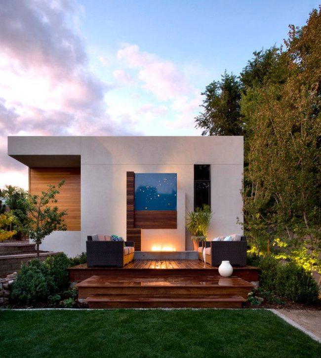Одноэтажный дом по индивидуальному проекту в стиле модерн