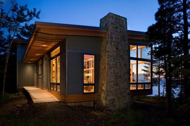 Современный одноэтажный дом по индивидуальному проекту