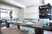 Фото 12 Дизайн-проект однокомнатной квартиры: 85 элегантных решений для оптимизации пространства