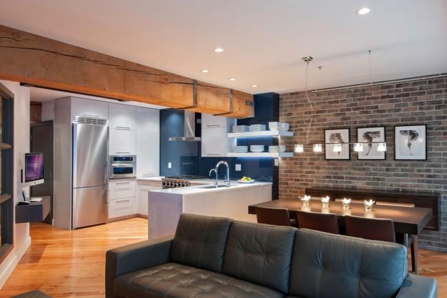 При планировке жилого пространства в однокомнатной квартире необходимо придерживать принципам оптимизации