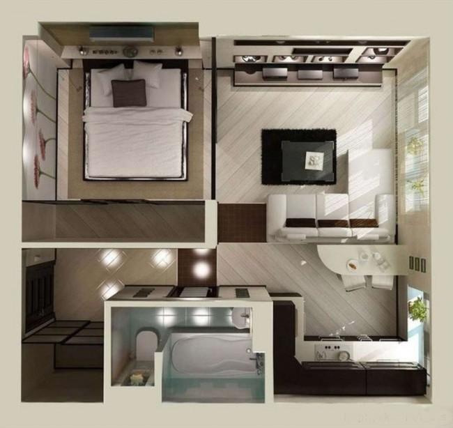 План однокомнатной квартиры 40 кв.м.