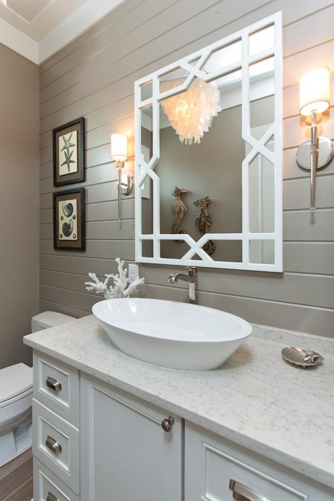 Вагонка в отделке ванной комнаты очень практичный вариант