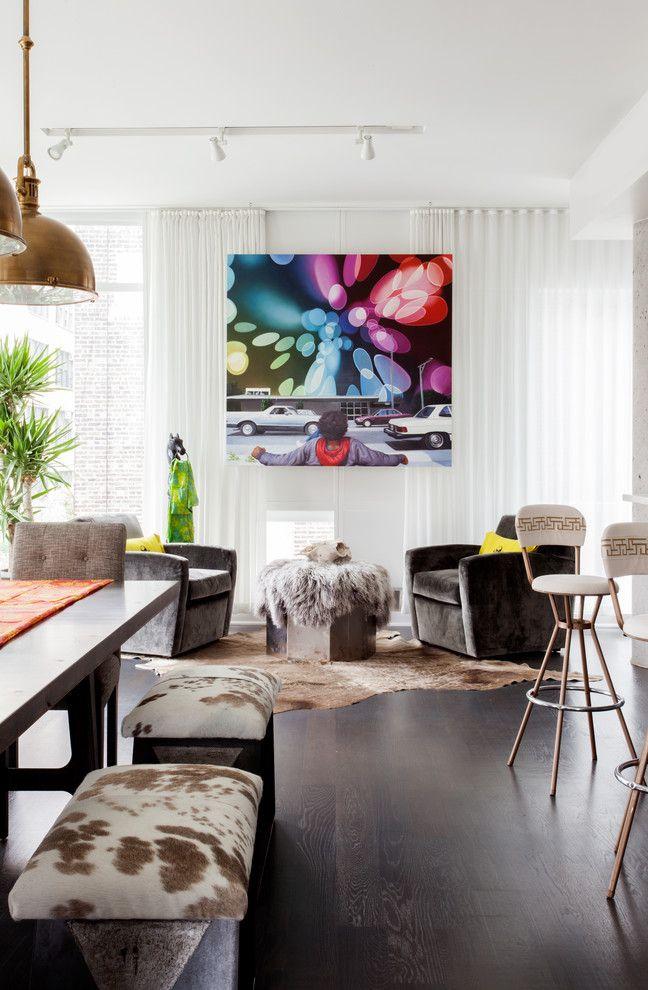 Поп-арт может совмещать в себе максимально-разнообразную мебель