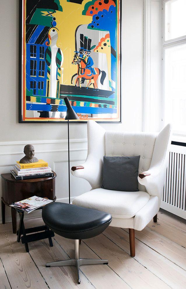 Цветная абстракция в картинах уместна для стиля поп-арт