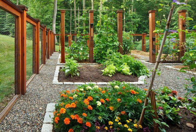 Красиво оформленный огород подчеркнет ваши чувство вкуса и индивидуальность