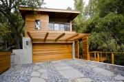 Фото 6 Проекты каркасных домов с гаражом своими руками: технологии строительства, схемы и преимущества