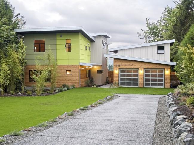 Частный двухэтажный дом с интересным дизайном не оставит равнодушными ни ваших гостей, ни случайных прохожих