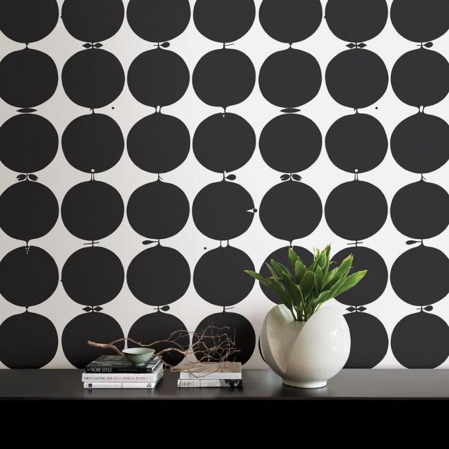 Стильные черно-белые обои для современного интерьера