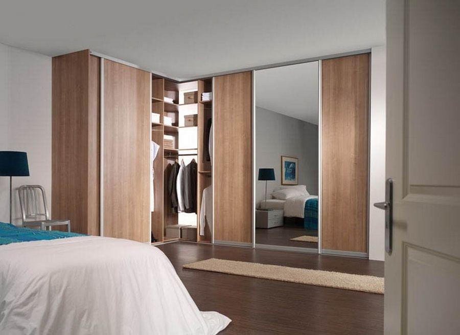 Угловой шкаф в спальню: 50+ фото стильных моделей в интерьер.