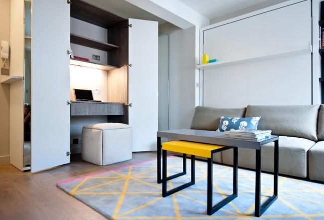 Рабочее место, которое можно спрятать в шкаф - настоящая находка для маленькой квартиры