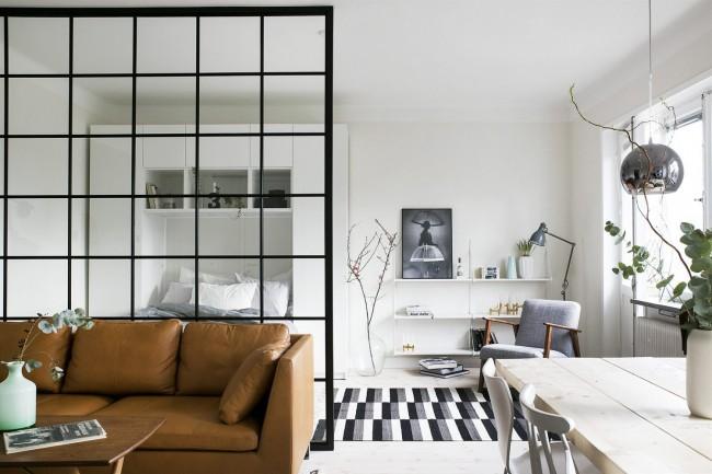 Уютный интерьер небольшой квартиры в скандинавском стиле
