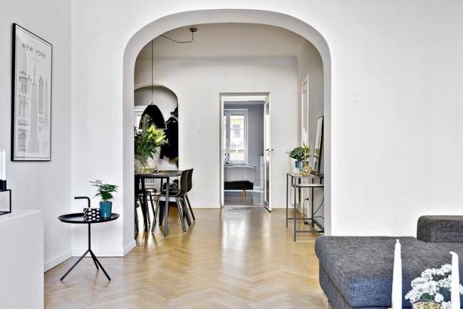 Современный дизайн арки продолговатой формы