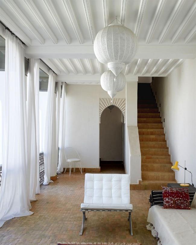 Зонирование помещения с помощью арки