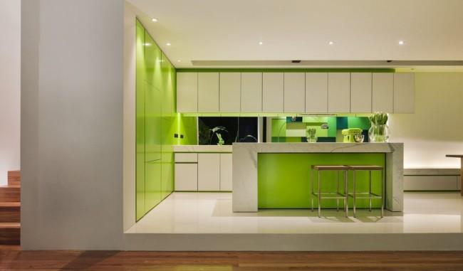 Дизайн кухни зеленые фото дизайн