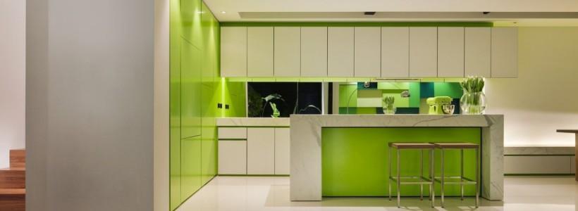 Дизайн кухни зеленого цвета (42 фото): самые сочные сочетания
