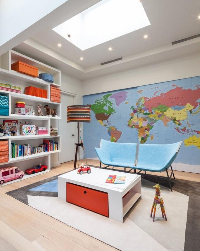 Кресла, образующие одно целое – оригинальная идея для детской комнаты двоих детей