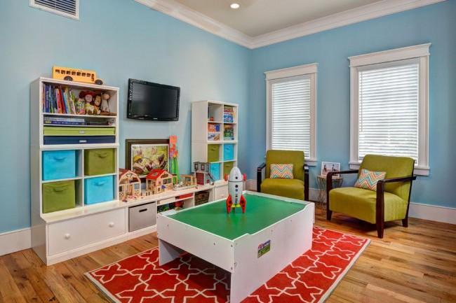 Яркий дизайн детской комнаты, который одинаково подойдет и для девочки, и для мальчика