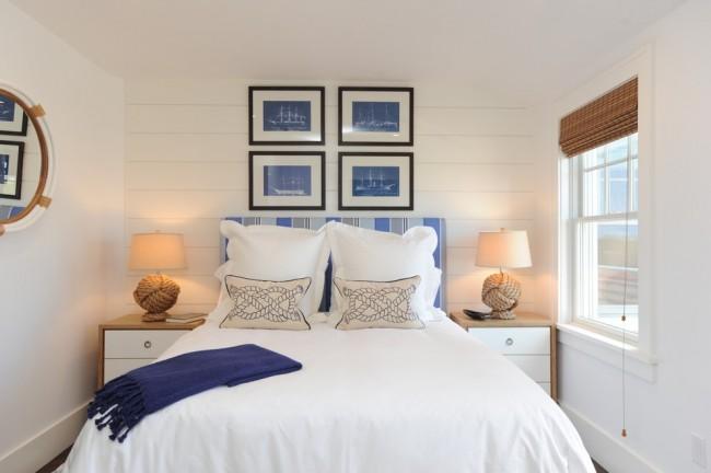 Светлые тона в интерьере помогут визуально увеличить пространство, но чтобы комната не была стерильно белой и безвкусной стоит сделать несколько ярких акцентов