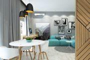 Фото 6 Дизайн квартиры-студии: 80 трендов для создания современного и мультифункционального интерьера