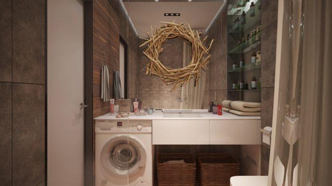 Большое зеркало - еще одна хитрость, помогающая зрительно раздвигать пространство во всем доме
