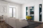 Фото 5 Дизайн квартиры-студии: 80 трендов для создания современного и мультифункционального интерьера