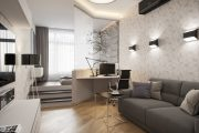 Фото 8 Дизайн квартиры-студии: 80 трендов для создания современного и мультифункционального интерьера