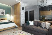 Фото 17 Дизайн квартиры-студии: 80 трендов для создания современного и мультифункционального интерьера