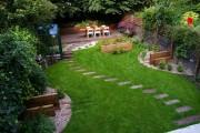 Фото 9 Дизайн двора частного дома: создаем уютное и функциональное пространство своими руками