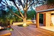 Фото 2 Дизайн двора частного дома: создаем уютное и функциональное пространство своими руками