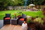 Фото 21 Дизайн двора частного дома: создаем уютное и функциональное пространство своими руками
